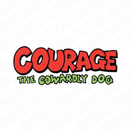 COURAGE THE COWARDLY DOG LOGO CHARACTER T-SHIRT IRON-ON TRANSFER DECAL #CTCD7