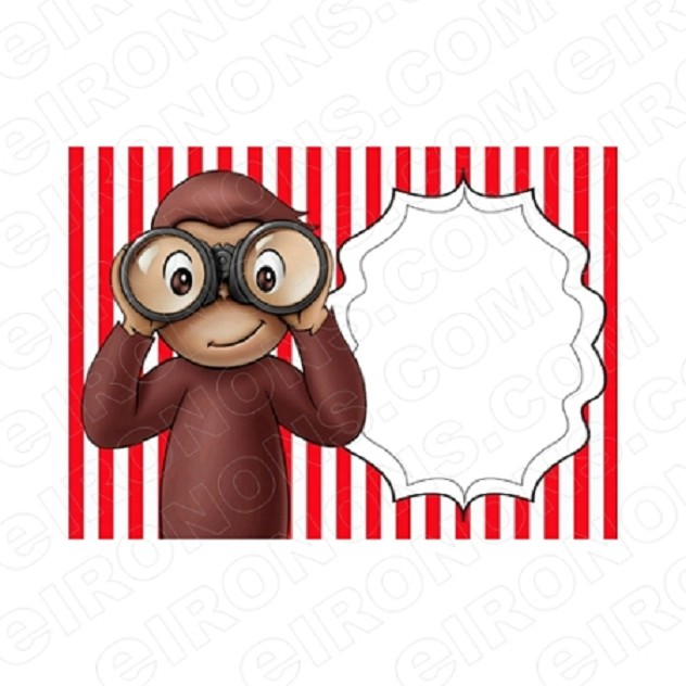 CURIOUS GEORGE BLANK EDITABLE INVITATION INSTANT DOWNLOAD #ICG4