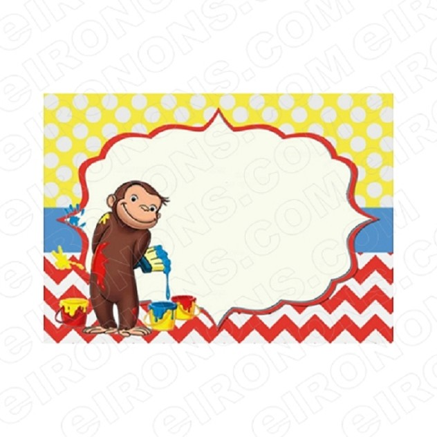 CURIOUS GEORGE BLANK EDITABLE INVITATION INSTANT DOWNLOAD #ICG2