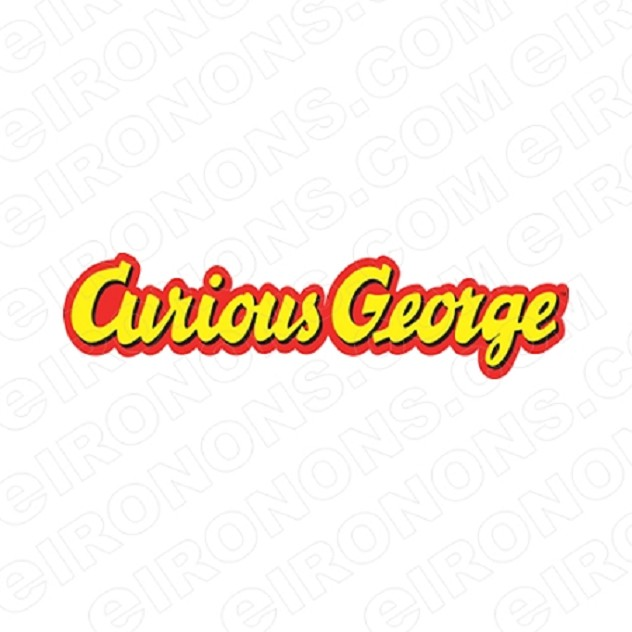 CURIOUS GEORGE LOGO CHARACTER T-SHIRT IRON-ON TRANSFER DECAL #CCG3