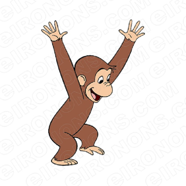 CURIOUS GEORGE PLAYING CHARACTER CLIPART PNG IMAGE SCRAPBOOK INSTANT DOWNLOAD
