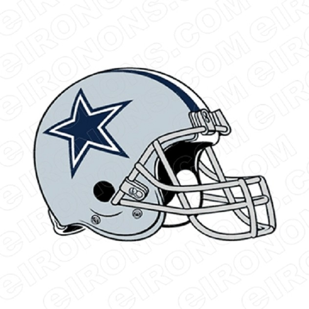 DALLAS COWBOYS HELMET LOGO SPORTS NFL FOOTBALL T-SHIRT IRON-ON TRANSFER DECAL #DC1