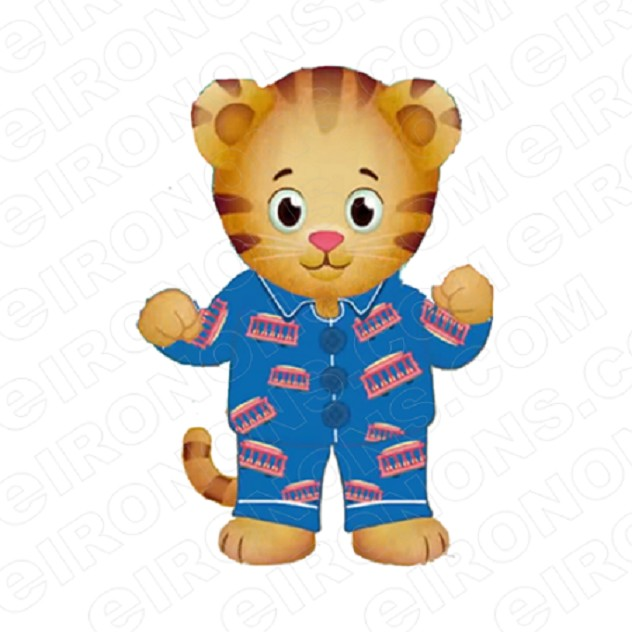 DANIEL TIGERS NEIGHBORHOOD DANIEL TIGER FRONT VIEW CHARACTER T-SHIRT IRON-ON TRANSFER DECAL #CDTN1