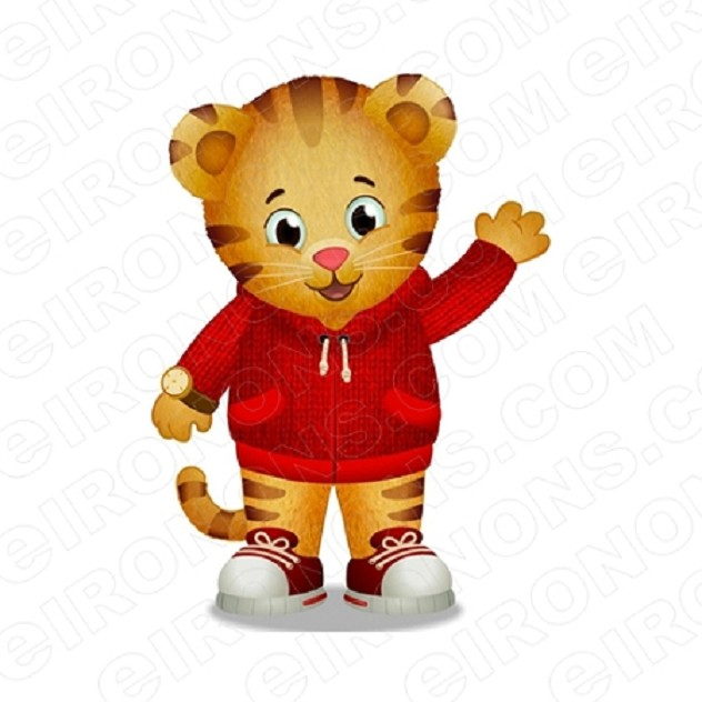 DANIEL TIGERS NEIGHBORHOOD DANIEL WAVING CHARACTER T-SHIRT IRON-ON TRANSFER DECAL #CDTN3