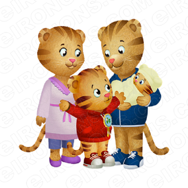 DANIEL TIGERS NEIGHBORHOOD GROUP POSE 3 CHARACTER T-SHIRT IRON-ON TRANSFER DECAL #CDTN5