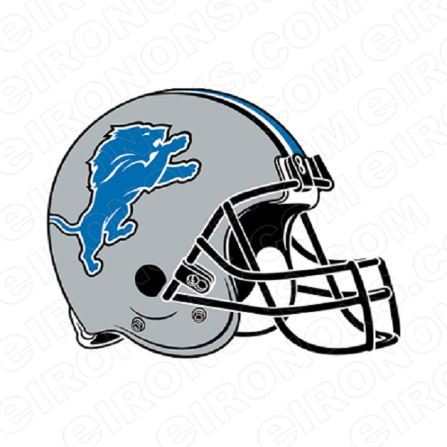 DETROIT LIONS HELMET LOGO SPORTS NFL FOOTBALL T-SHIRT IRON-ON TRANSFER DECAL #SFDL1