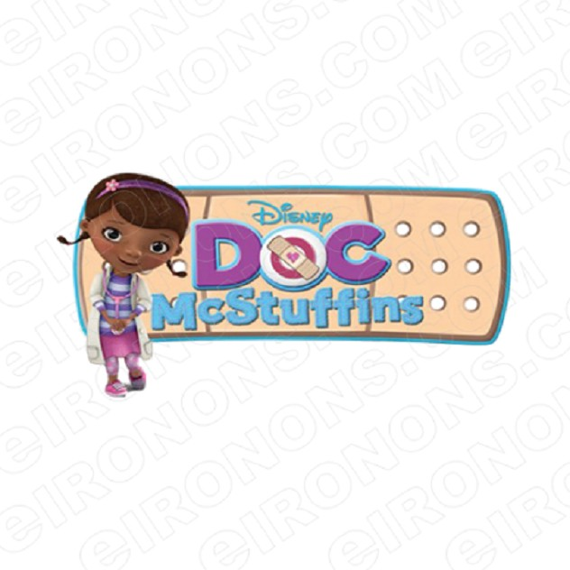 DOC MCSTUFFINS LOGO CHARACTER T-SHIRT IRON-ON TRANSFER DECAL #CDM2