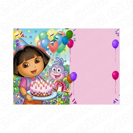 DORA THE EXPLORER BLANK EDITABLE INVITATION INSTANT DOWNLOAD #IDTE1