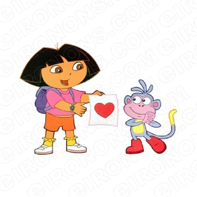 DORA THE EXPLORER AND BOOTS CHARACTER T-SHIRT IRON-ON TRANSFER DECAL #CDTE3