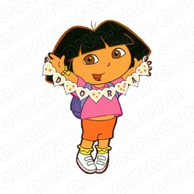 DORA THE EXPLORER DORA CHARACTER T-SHIRT IRON-ON TRANSFER DECAL #CDTE2