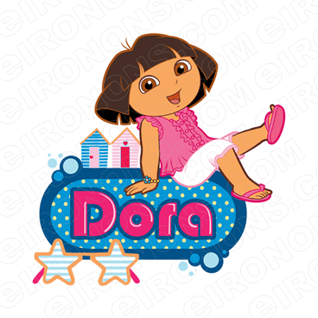 DORA THE EXPLORER ON LOGO CHARACTER T-SHIRT IRON-ON TRANSFER DECAL #CDTE10