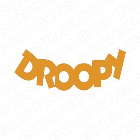 DROOPY LOGO CHARACTER T-SHIRT IRON-ON TRANSFER DECAL #CD3