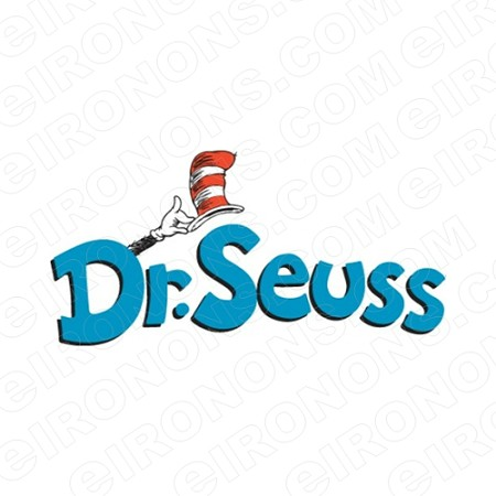 DR SEUSS LOGO CHARACTER T-SHIRT IRON-ON TRANSFER DECAL #CDS1