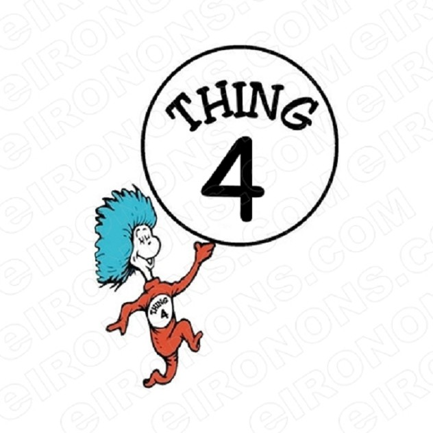 DR SEUSS THING 4 CHARACTER T-SHIRT IRON-ON TRANSFER DECAL #CDS6