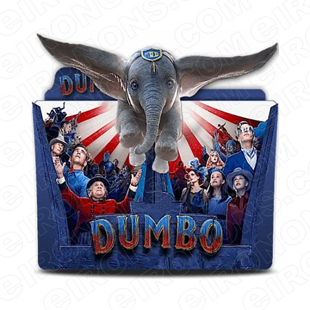 DUMBO THE MOVIE DUMBO AND LOGO CHARACTER T-SHIRT IRON-ON TRANSFER DECAL #CDTM13