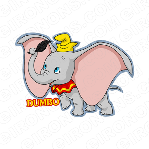 DUMBO AND LOGO CHARACTER T-SHIRT IRON-ON TRANSFER DECAL #CD1