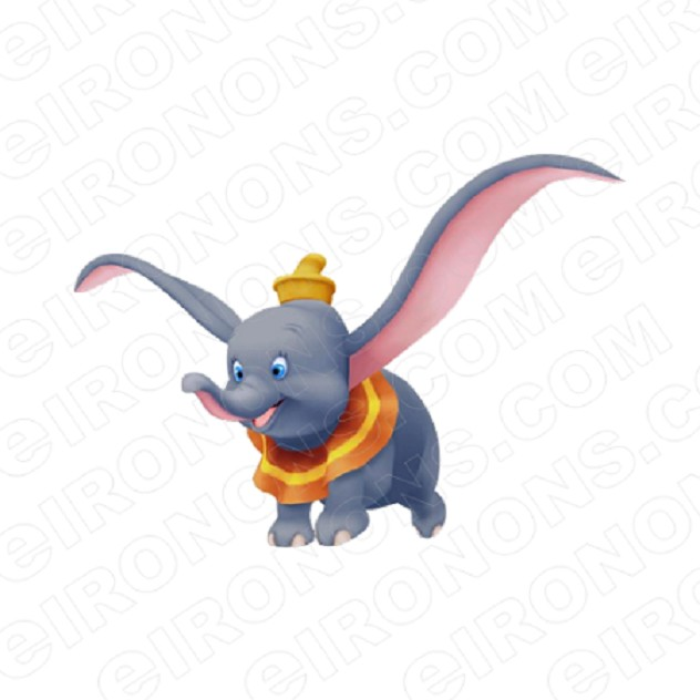 DUMBO EARS OUT CHARACTER T-SHIRT IRON-ON TRANSFER DECAL #CD2