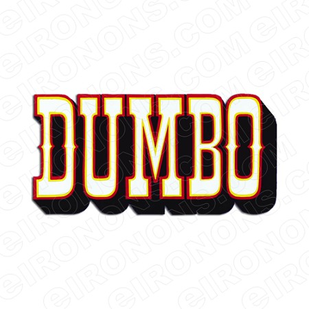 DUMBO LOGO CHARACTER T-SHIRT IRON-ON TRANSFER DECAL #CD8