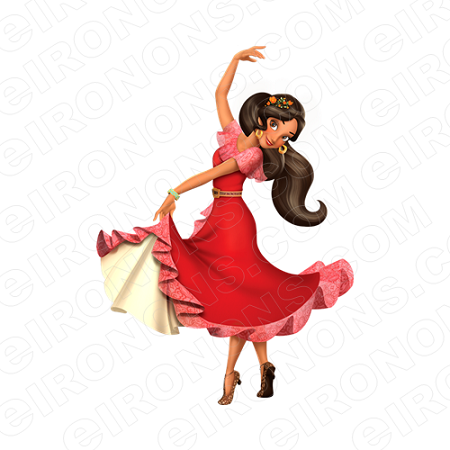 ELENA OF AVALOR ELENA DANCING CHARACTER T-SHIRT IRON-ON TRANSFER DECAL #CEOA3