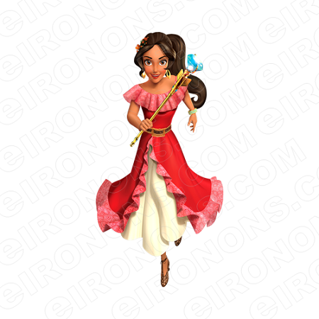 ELENA OF AVALOR ELENA RUNNING CHARACTER T-SHIRT IRON-ON TRANSFER DECAL #CEOA7