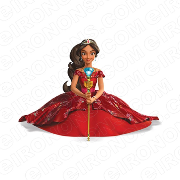 ELENA OF AVALOR ELENA SITTING CHARACTER T-SHIRT IRON-ON TRANSFER DECAL #CEOA8