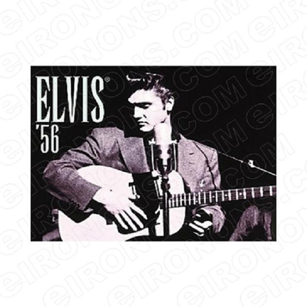 ELVIS PRESLEY PLAYING GUITAR MUSIC T-SHIRT IRON-ON TRANSFER DECAL #MEP5