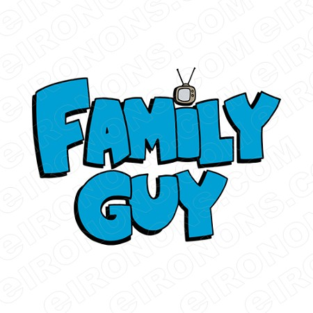 FAMILY GUY LOGO TV T-SHIRT IRON-ON TRANSFER DECAL #TVFG1