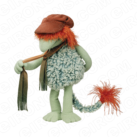 FRAGGLE ROCK BOOBER HOLDING SCARF CHARACTER T-SHIRT IRON-ON TRANSFER DECAL #CFR1