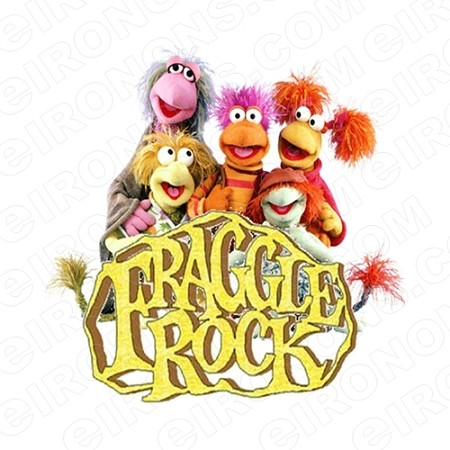 FRAGGLE ROCK GROUP POSE ON LOGO CHARACTER T-SHIRT IRON-ON TRANSFER DECAL #CFR4
