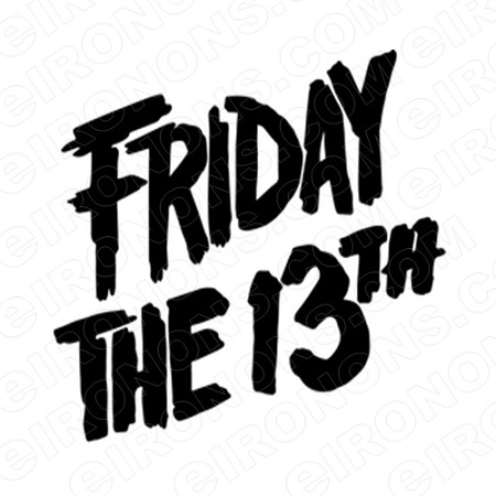 FRIDAY THE 13TH LOGO BLACK MOVIE T-SHIRT IRON-ON TRANSFER DECAL #JVH6