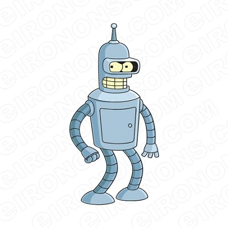 FUTURAMA BENDER STANDING CHARACTER T-SHIRT IRON-ON TRANSFER DECAL #CFA1