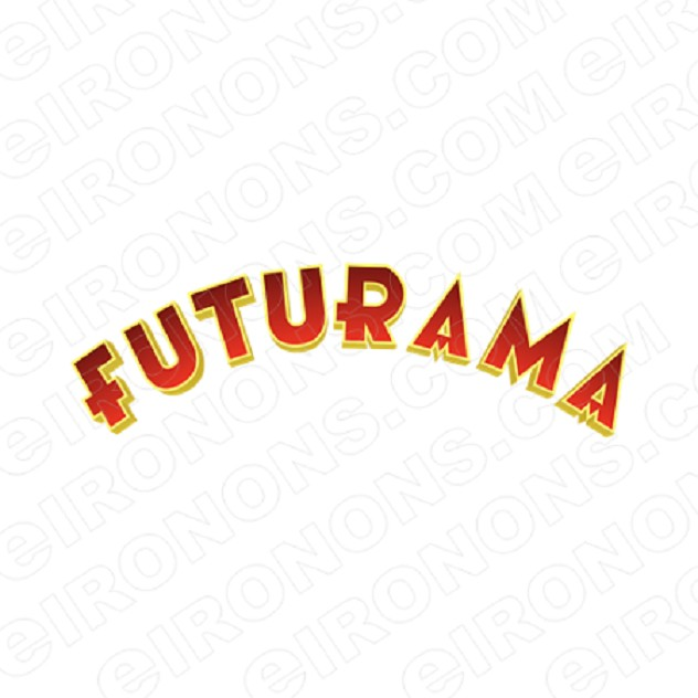 FUTURAMA LOGO CHARACTER T-SHIRT IRON-ON TRANSFER DECAL #CFA8