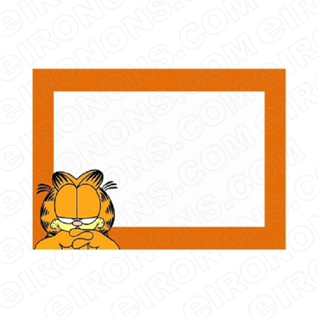 GARFIELD BLANK EDITABLE INVITATION INSTANT DOWNLOAD #IG1
