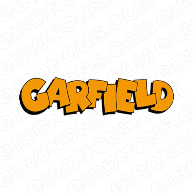 GARFIELD LOGO CHARACTER T-SHIRT IRON-ON TRANSFER DECAL #CGF11