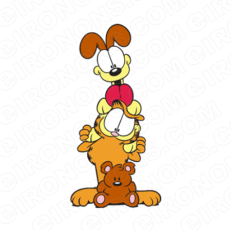 GARFIELD TOTEM CHARACTER T-SHIRT IRON-ON TRANSFER DECAL #CGF6