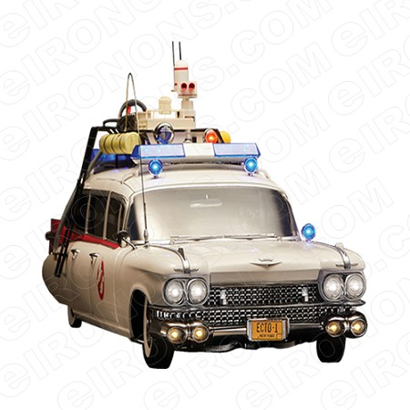 GHOSTBUSTERS ECTO 1 MOVIE T-SHIRT IRON-ON TRANSFER DECAL #MGB1