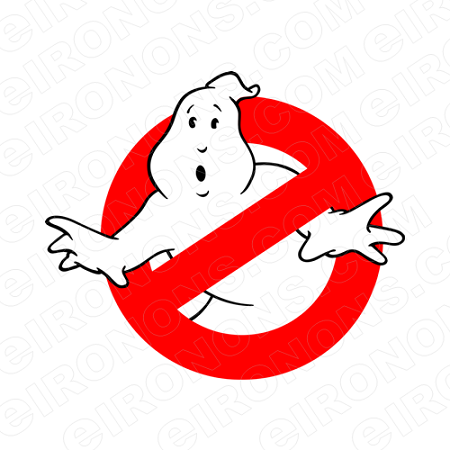 GHOSTBUSTERS LOGO MOVIE T-SHIRT IRON-ON TRANSFER DECAL #MGB4