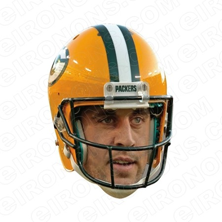 GREEN BAY PACKERS AARON RODGERS GAME DAY BIG HEAD SPORTS NFL FOOTBALL T-SHIRT IRON-ON TRANSFER DECAL #GBP13