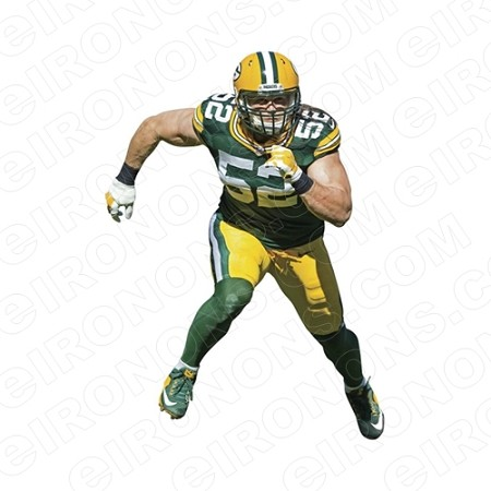 GREEN BAY PACKERS CLAY MATTHEWS SPORTS NFL FOOTBALL T-SHIRT IRON-ON TRANSFER DECAL #GBP12
