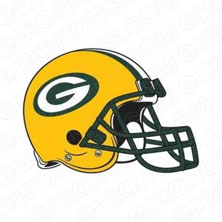 GREEN BAY PACKERS HELMET LOGO SPORTS NFL FOOTBALL T-SHIRT IRON-ON TRANSFER DECAL #GBP4