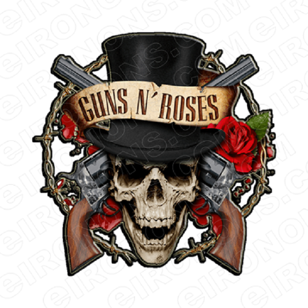 GUNS N' ROSES LOGO MUSIC T-SHIRT IRON-ON TRANSFER DECAL #MGNR1