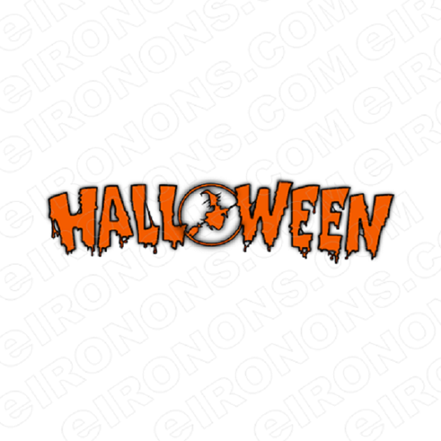 HALLOWEEN LOGO T-SHIRT IRON-ON TRANSFER DECAL #HH4