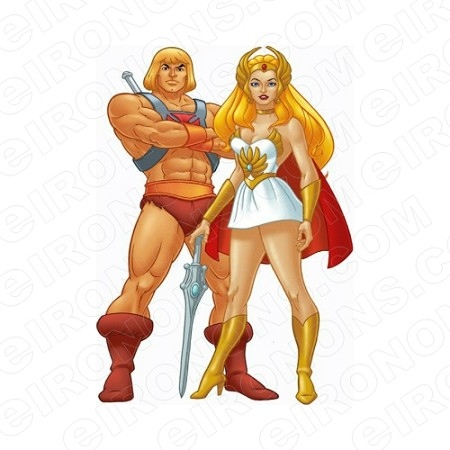 HE-MAN AND SHERA COMIC T-SHIRT IRON-ON TRANSFER DECAL #CHM3