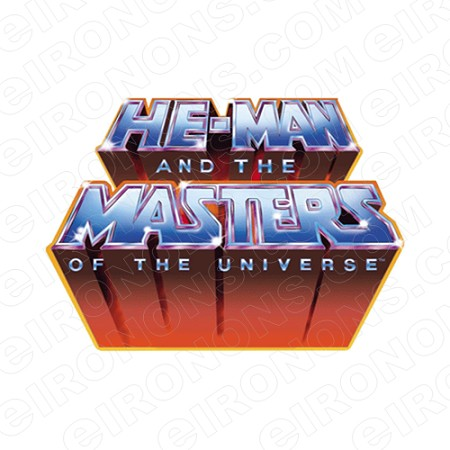 HE-MAN AND THE MASTERS OF THE UNIVERSE LOGO COMIC T-SHIRT IRON-ON TRANSFER DECAL #CHM12