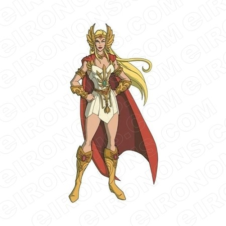 HE-MAN SHE-RA CAPE BLOWING COMIC T-SHIRT IRON-ON TRANSFER DECAL #CHM10