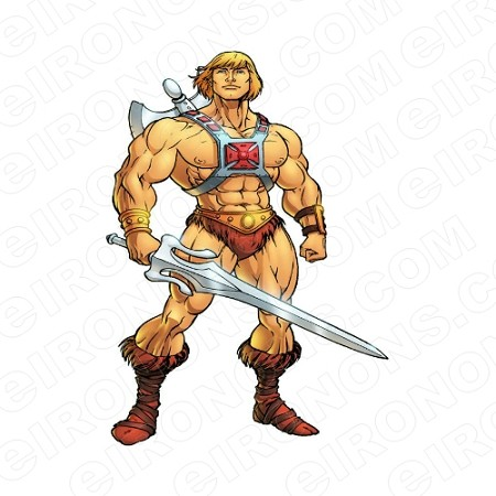 HE-MAN STANDING COMIC T-SHIRT IRON-ON TRANSFER DECAL #CHM1