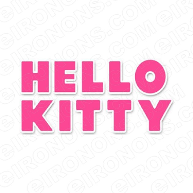 HELLO KITTY LOGO CHARACTER T-SHIRT IRON-ON TRANSFER DECAL #CHK1