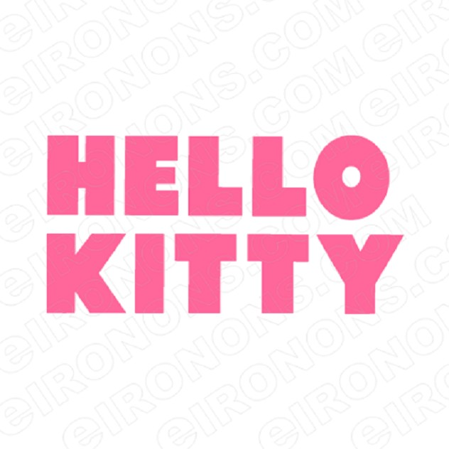 HELLO KITTY LOGO CHARACTER T-SHIRT IRON-ON TRANSFER DECAL #CHK2