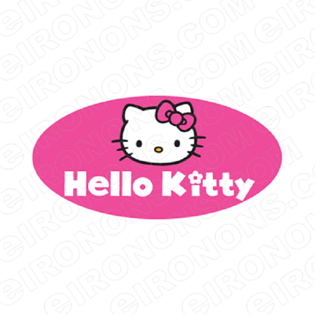 HELLO KITTY LOGO CHARACTER T-SHIRT IRON-ON TRANSFER DECAL #CHK3
