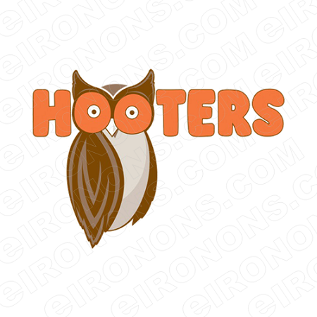 HOOTERS LOGO ADVERTISING T-SHIRT IRON-ON TRANSFER DECAL #AHL1